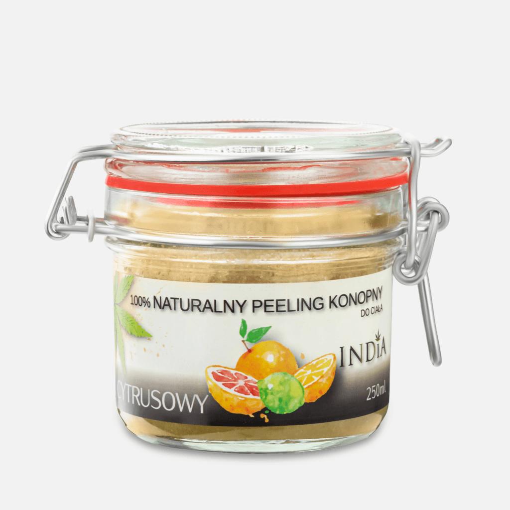 Naturalny peeling konopny – cytrusowy lub kokosowy – 250ml